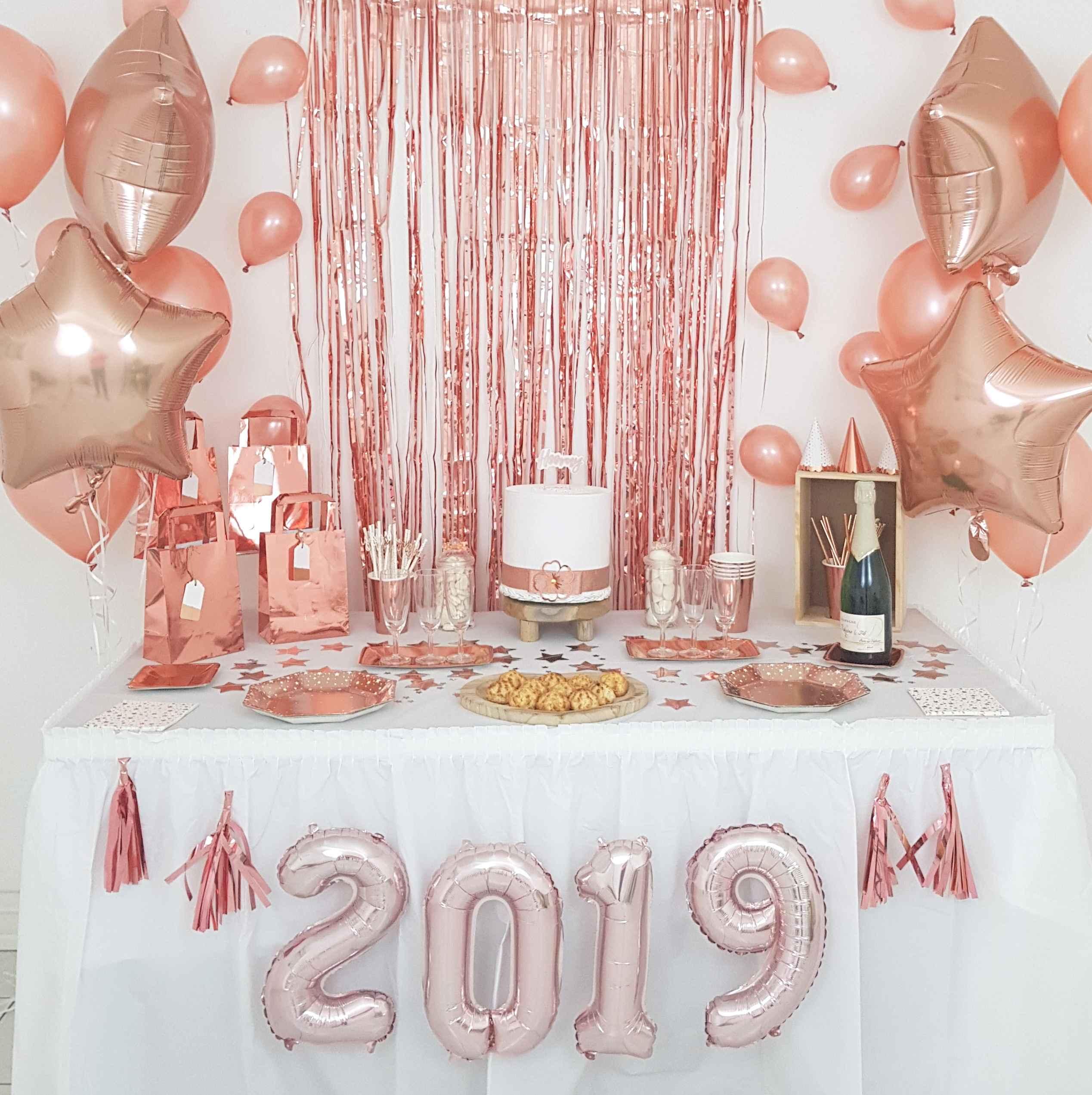 Decoration Sweet Table Rose Gold Nouvel An 2019 Jour De L An Noel