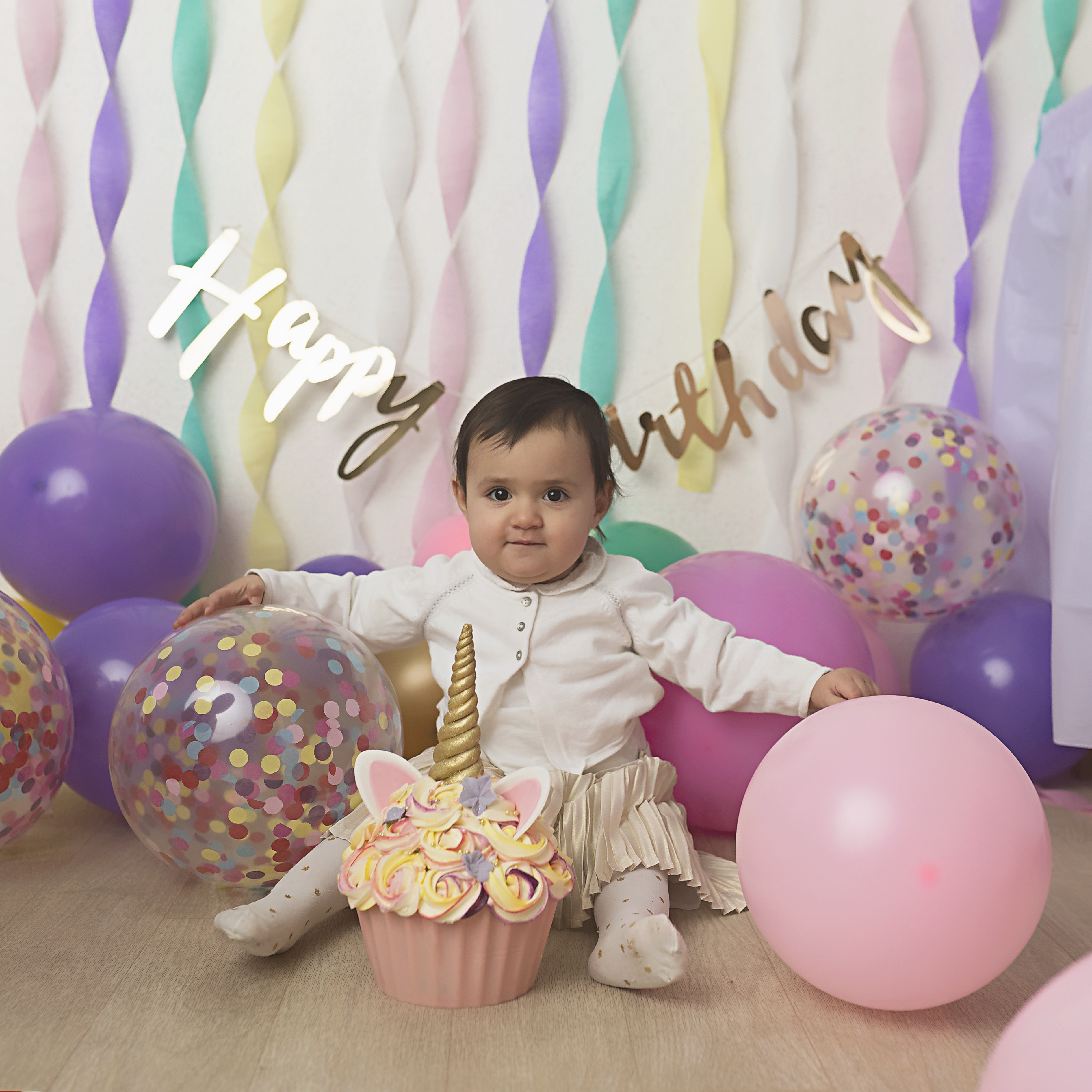 nouveau bébé fille 4 Simple papier DECOUPIS serviettes elle est une fille -914 rose cup cake
