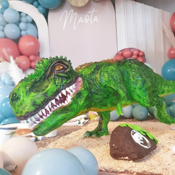 Ma grande rencontre du jour : @lesgateauxdemilie89 ! Voici quelques clichés du sublime gâteau Dinosaure pour Maota et ses copains! Ultra réaliste, tout se mange. Aussi beau que bon. De l'Art ! On a tous été bluffé.  Si vous cherchez une cake designer qui dépote sur le 89 @lesgateauxdemilie89 est là. Elle est autodidacte,  et a son CAP pâtisserie et son labo ♥️🎈 Tellement heureuse d'avoir découvert ce talent. On refera appel à elle pour l'anniversaire d'Eve,  c'est certain ♥️🎈 A votre avis, on a commencé par une patte ou la tête ?